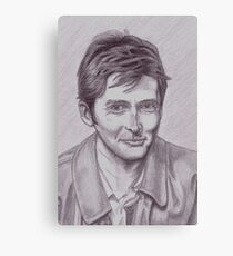 David Tennant  tenth Doctor Canvas Print