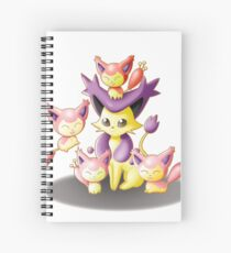 Mama Delcatty and her Baby Skitty Spiral Notebook