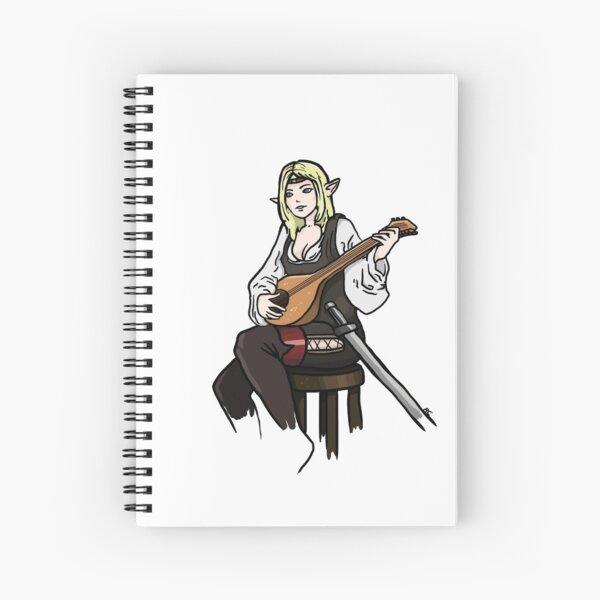 D&D Style Elf - Lute Spiral Notebook