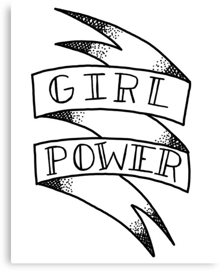 Girl power ribbon by rosalynnllc