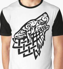 Celtic Wolf - Black Graphic T-Shirt