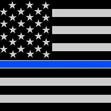 BLUE LIVES MATTER American Flag by thatstickerguy
