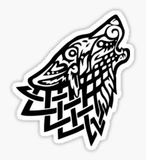 Celtic Wolf - Schwarz Sticker
