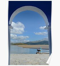 View Through an Arch at PortMeirion Poster
