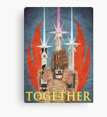 Together! - Rebel Alliance Propaganda Canvas Print