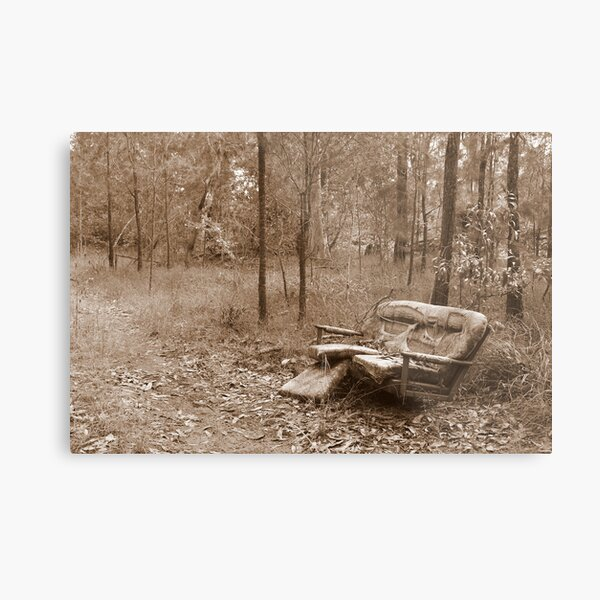 Waiting by the Track Metal Print