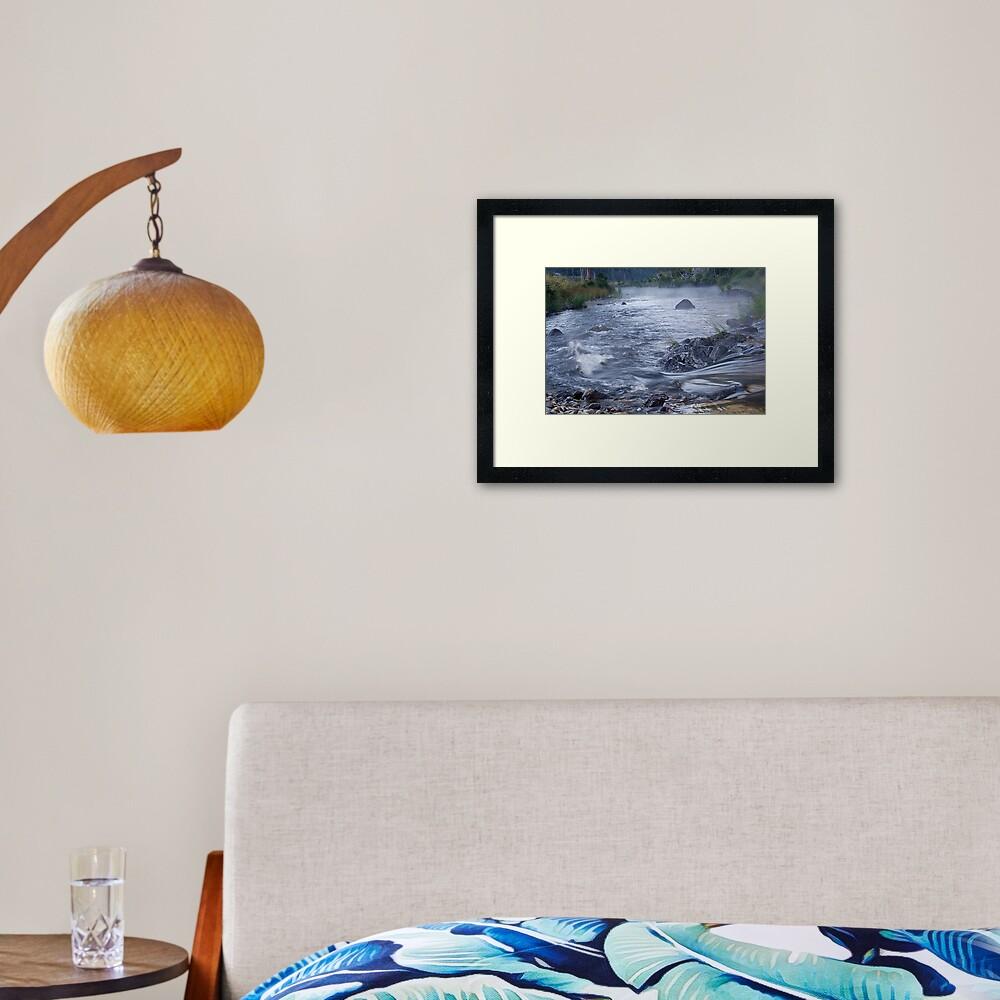 Styx River, NSW Framed Art Print