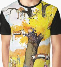 Calvin and Hobbes Mural Graphic T-Shirt