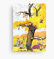 Calvin and Hobbes Mural Metal Print