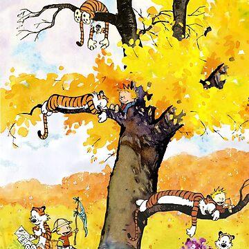 Calvin und Hobbes Wandgemälde von dru1138