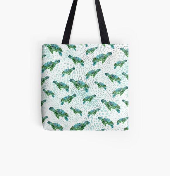 Sea Turtle Squad  All Over Print Tote Bag