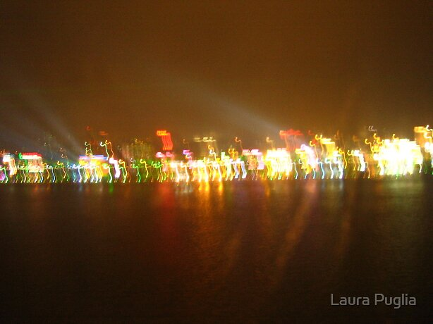 Light Show across the Pearl River.... by Laura Puglia