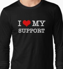 I Love My Support - Black Long Sleeve T-Shirt