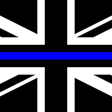 thin blue line UK Flag by thatstickerguy
