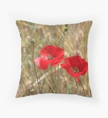 Red poppies 2. Throw Pillow