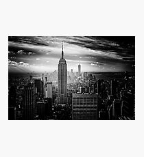 Empire State Building Black And White Photographic Print