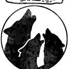 Wölfe heulen lustigen Speck von electrovista