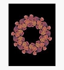 Rosey Rose Wreath, Pink Photographic Print