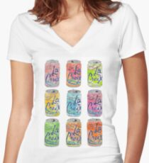 La Croix Cans  Women's Fitted V-Neck T-Shirt