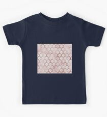 Rose gold mermaid scales - cloudy pink Kids Clothes