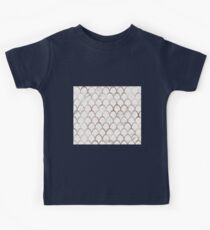 Rose gold mermaid scales - white marble Kids Clothes