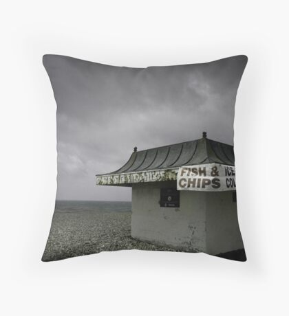 Too Cold For Hot Food Throw Pillow