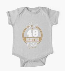 Funny Vintage 4th Birthday Cute Months Old Geek Gift Kids Clothes