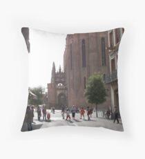 Glimpse of the basilica sainte Cécile Throw Pillow