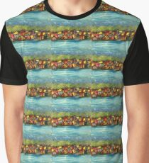 Town on Water Graphic T-Shirt