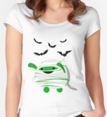 Halloween - Fun and Cute Mochi Mummy Women's Fitted Scoop T-Shirt