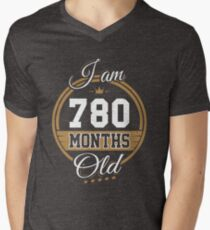 Funny Vintage 65th Birthday I'm 780 Months Old Gift T-Shirt