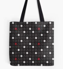 Dungeons and Dragons Dice Set D20 Pattern Tote Bag