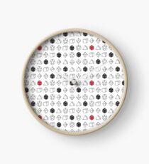 Reloj Dungeons blancos y dragones Dice Set D20 Pattern