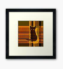 black cat crossing 4 Framed Print