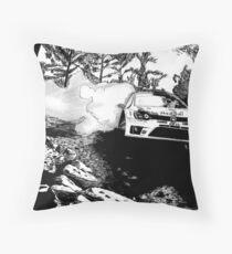 Polo R WRC - Drifting into the Wild Throw Pillow