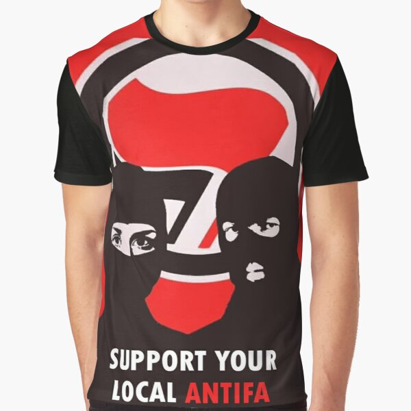 Support Your Local Antifa - Anti-Fascist Action Graphic T-Shirt