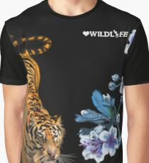 Tiger & Cherry Blossoms Graphic T-Shirt