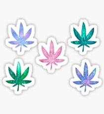 glitter leaf stickers Sticker