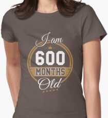 Funny Vintage 50th Birthday I'm 600 Months Old Gift T-Shirt