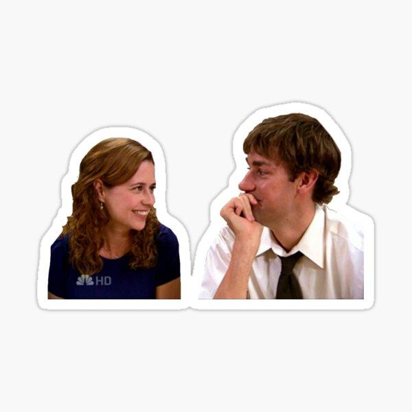Jim and Pam Sticker