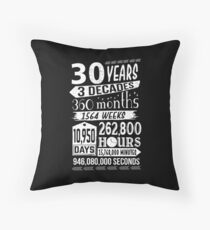 Funny 30th Birthday 30 Year Old Sign Gag Gift Throw Pillow