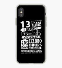Lustiges 13. Geburtstags-13-jähriges jugendlich Zeichen-Gag-Geschenk iPhone-Hülle & Cover