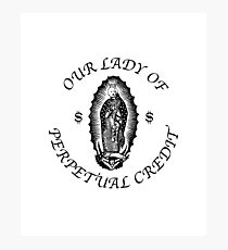 Our Lady of Perpetual Credit Photographic Print