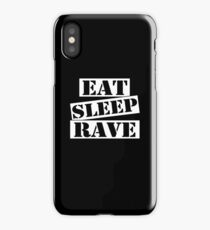 Funny Rave, Eat Sleep Rave Gifts iPhone Case/Skin
