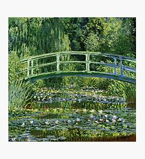 Claude Monet - Water Lilies and Japanese Bridge Photographic Print