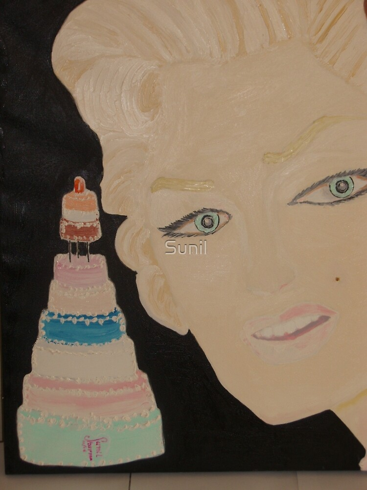 Marilyn Monroe - a Cake for JFK 's Birthday 1962 by Sunil