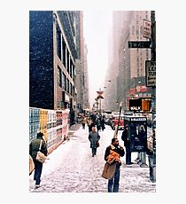 Broadway and 42nd Street 1985 Photographic Print