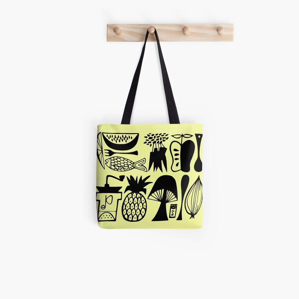 Vintage Pyrex Pattern - Mod Kitchen Tote Bag