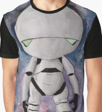 Marvin the Paranoid Android Space Watercolor Graphic T-Shirt