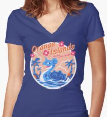 Orange Islands Women's Fitted V-Neck T-Shirt